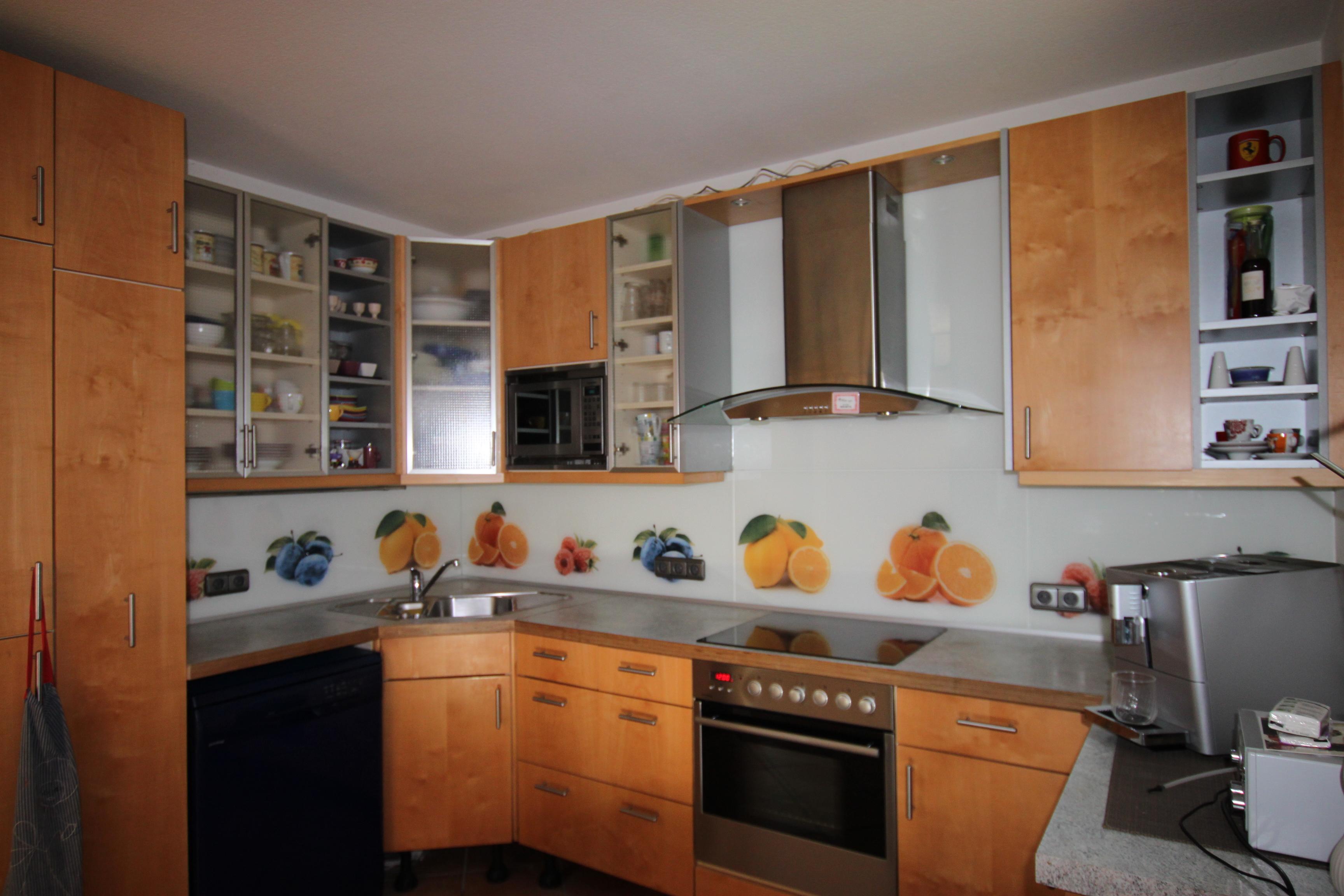 k chenr ckw nde aus glas glaserei oswald. Black Bedroom Furniture Sets. Home Design Ideas